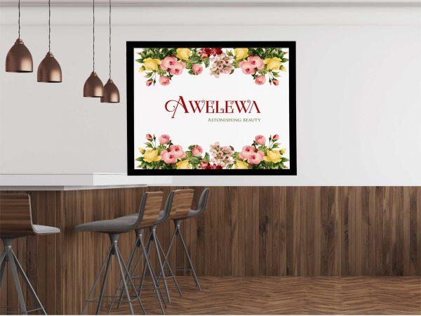 12x16 custom flower frame with name landscape