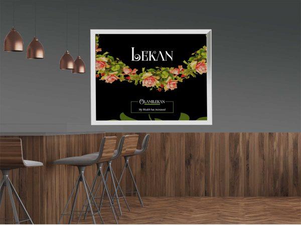 16 x 20 Large Name Frame design