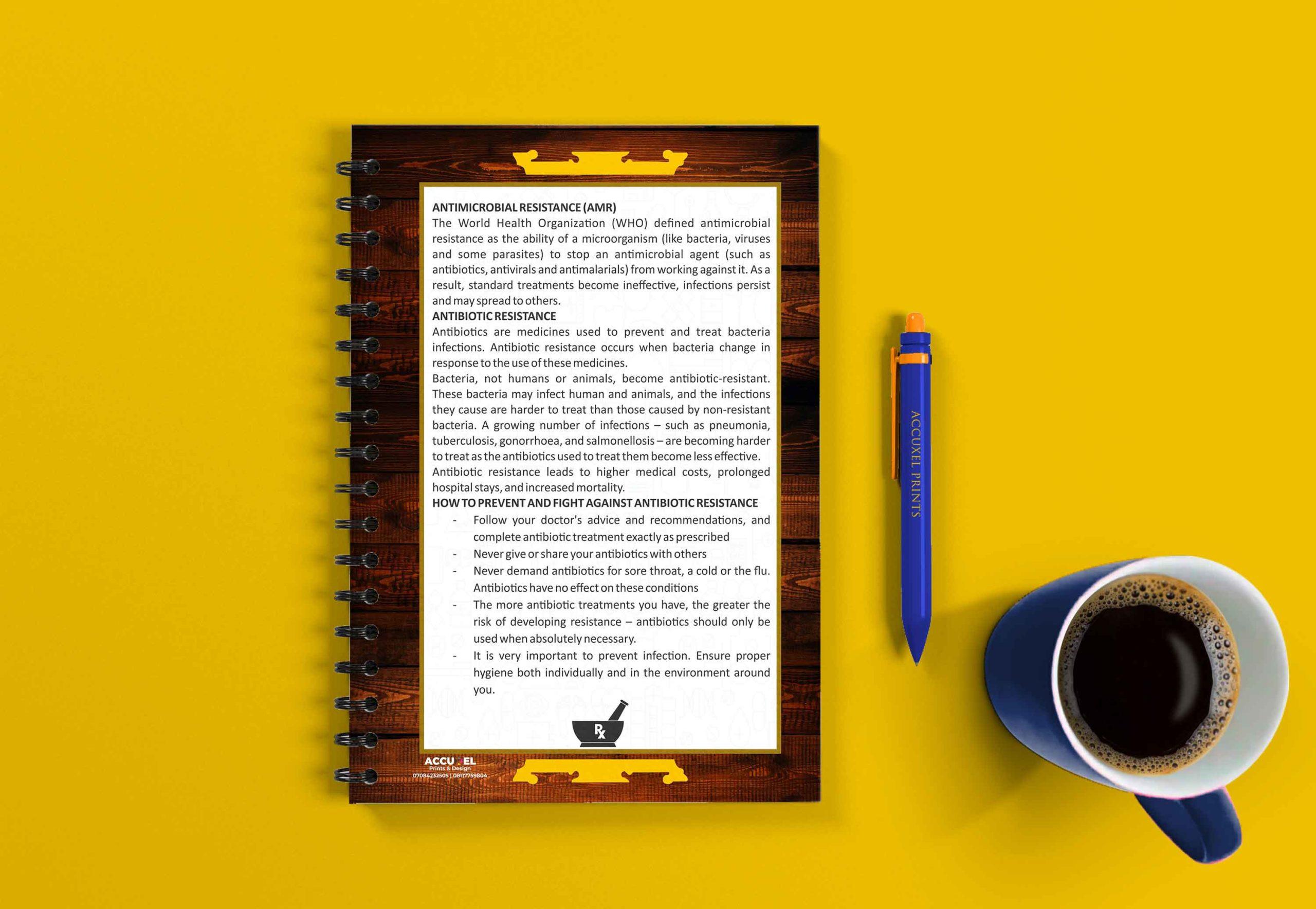 custom notepad design back