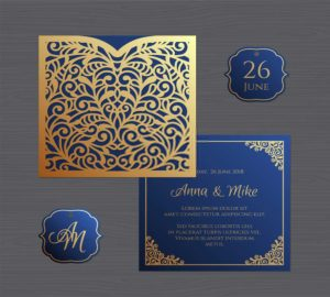 ready made floral invitation cards