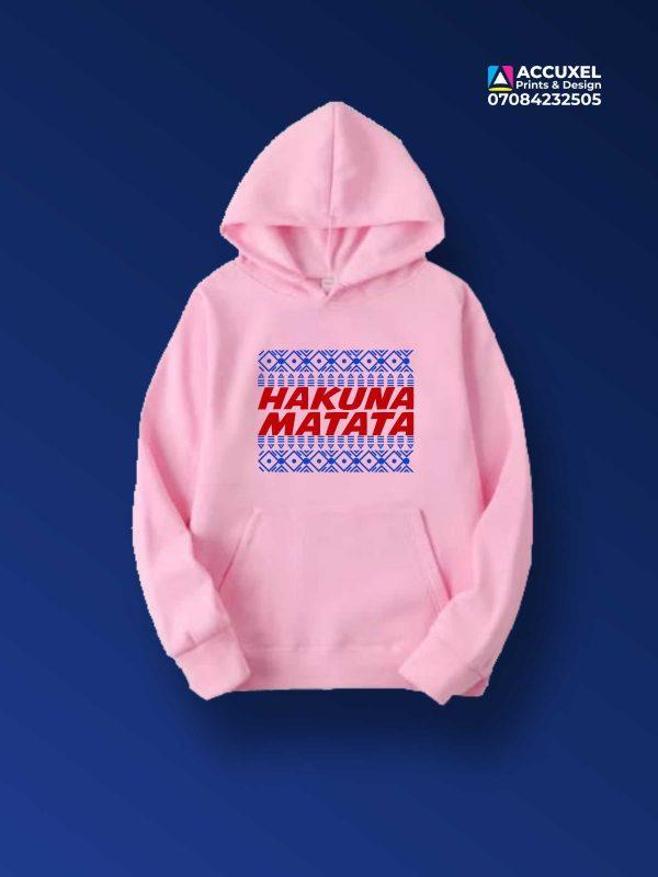 Hakuna Matata Hoodie Printing
