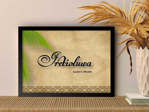 Personalized 16 by 20 Large Name Frames