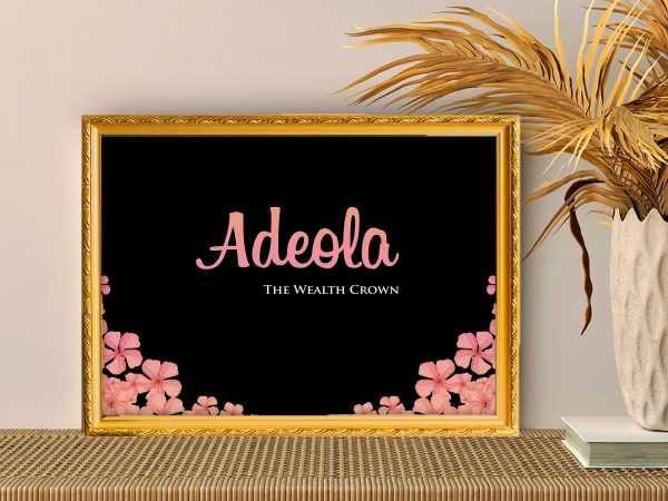 Personalized Large Name Frames