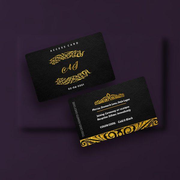 Wedding Access Cards