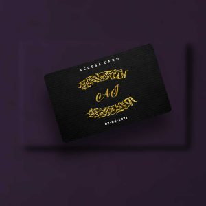Wedding Access Cards front