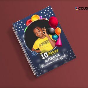 birthday jotter design and printing