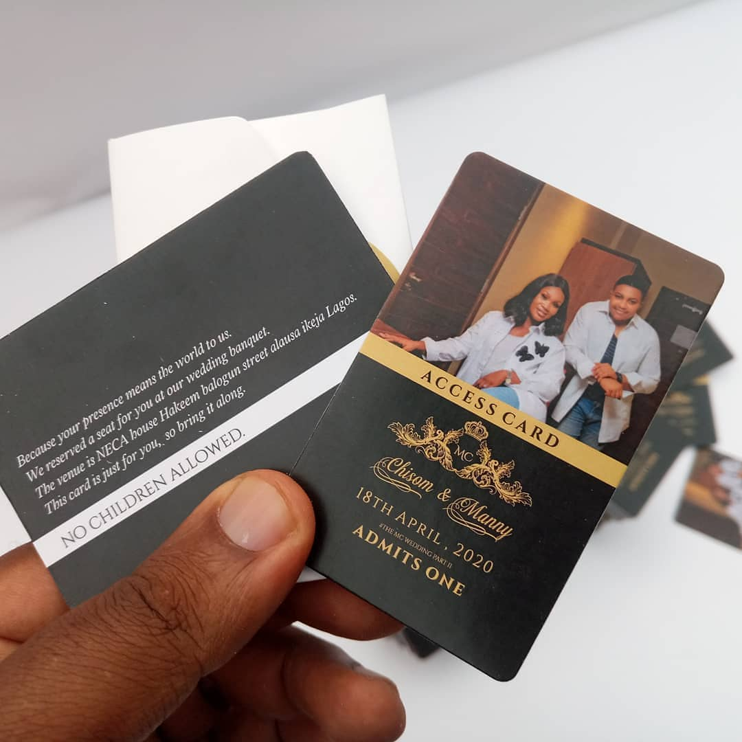 custom access cards for wedding