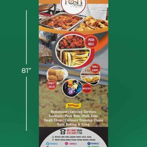 custom roll up banner size in inches