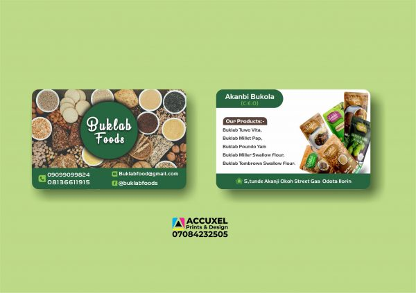 double sided business cards printing and design