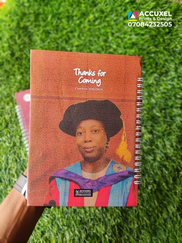 hard cover jotter back design and printing