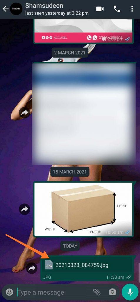 select whatsapp pin Attachment Icon