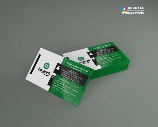 one sided complimentary card design and print