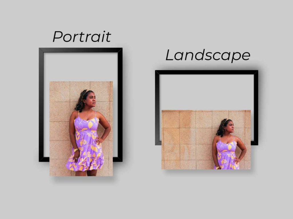 picture frame orientation