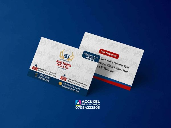 two sided Business cards printing and design